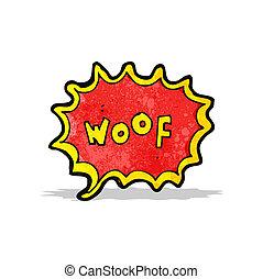 komiker beställ, tecknad film, skälla, hund