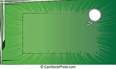 komisch boek, groene, bg