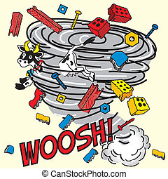 komisch boek, tornado!, geïnspireerde