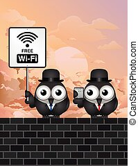 komisch, kosteloos, wifi