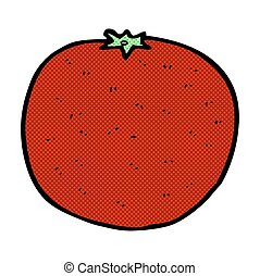 komisch, spotprent, sinaasappel