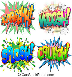 komisches buch, illustrationen