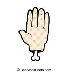 komisk, cartoon, hånd
