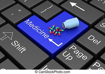 komma in, medicinsk behandling, nyckel