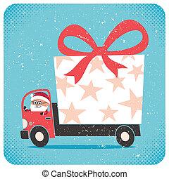 komma med, jultomten, gåva