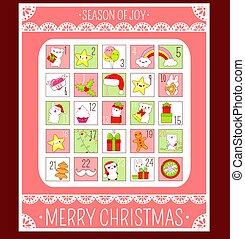 komme, jul, kalender