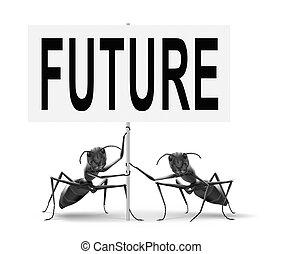 komme, snart, ind, den, nær, fremtid