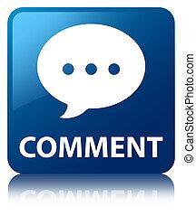 kommentar, blaues quadrat, taste, (conversation, icon)