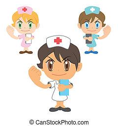 kommentar, krankenschwester