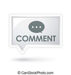 kommentar, vortrag halten , wortblasé