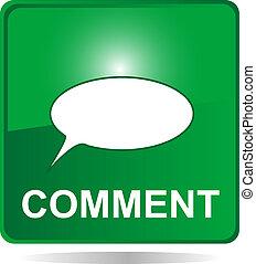kommentar, web, taste, grün, blasen