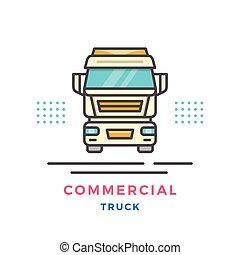 kommersiell, begrepp, lastbil