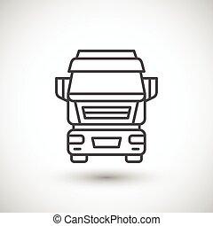 kommersiell, fodra, lastbil, ikon