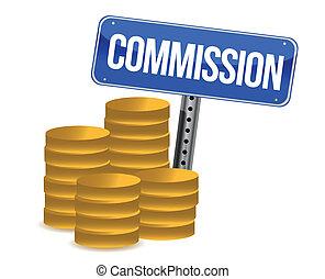 kommission, cons, zeichen
