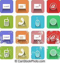 kommunikáció, állhatatos, ikon