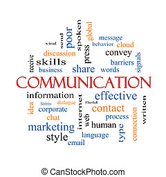 kommunikáció, fogalom, szó, felhő