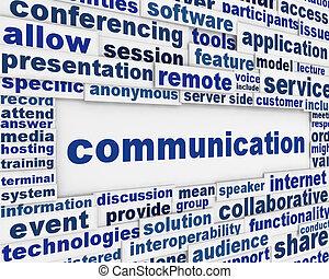 kommunikáció, globális, tervezés, poszter