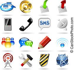 kommunikáció, ikonok