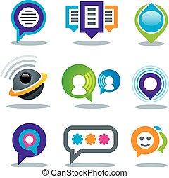 kommunikáció, társadalmi, nyugat, emberek