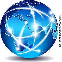 kommunikáció, világ, globális, kereskedelem