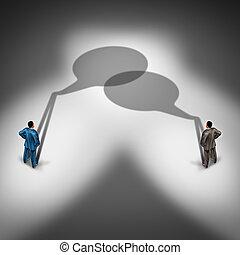 kommunikation, affär, nätverk