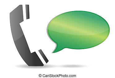 kommunikation, begreb, illustration