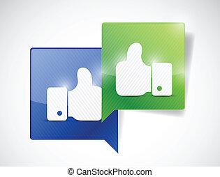 kommunikation, begreb, kompagniskab, illustration