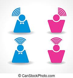 kommunikation, begreb, netværk