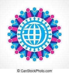kommunikation, begrepp, nätverk