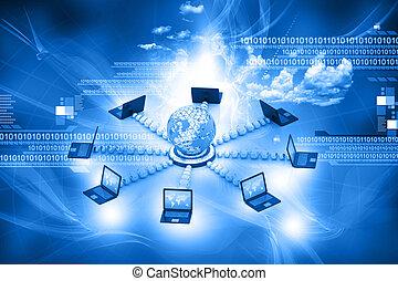 kommunikation, begriff, computernetzwerk, internet