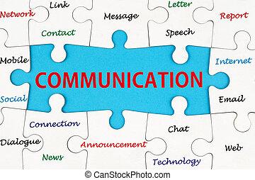 kommunikation, begriff