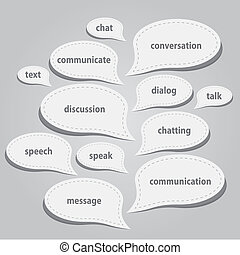 kommunikation, bobler