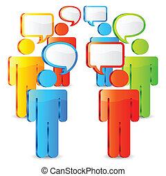 kommunikation, concept.