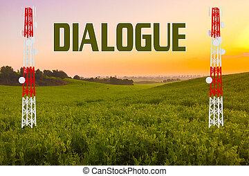 kommunikation, dialog, begrepp, -