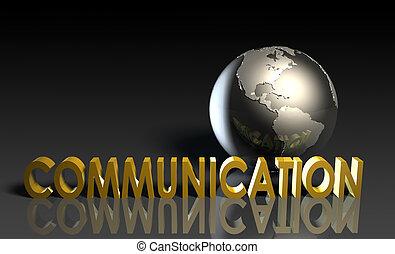kommunikation, dienstleistungen