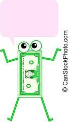 kommunikation, dollar