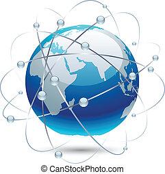 kommunikation, earth.