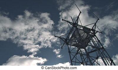 kommunikation, faa, antenne, timelapse