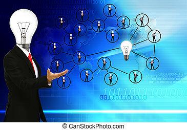 kommunikation, folk, nätverk, social