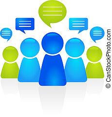 kommunikation, geschaeftswelt