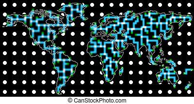 kommunikation, global, bakgrund