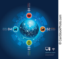 kommunikation, globale, internet