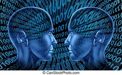 kommunikation, internet