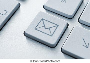 kommunikation, knap, email, internet