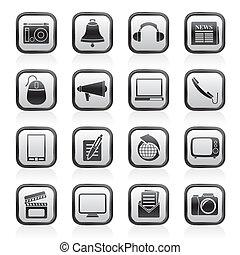 kommunikation,  media, ikonen