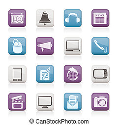 kommunikation, medier, iconerne