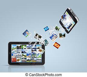 kommunikation, moderne technologie