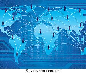 kommunikation, nätverk