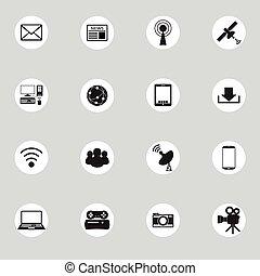 kommunikation, netværk, globale, computer, sociale
