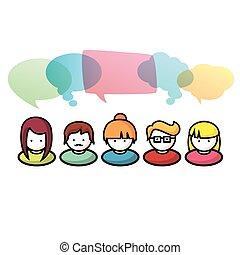 kommunikation, personengruppe